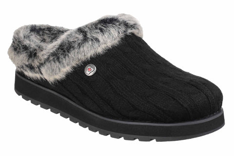Skechers SK31204 Bobs Keepsakes - Ice Storm Womens Mule Slipper Black BLK