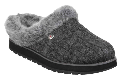 Skechers SK31204 Bobs Keepsakes - Ice Storm Womens Mule Slipper Charcoal CCL