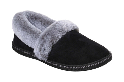 Skechers Cozy Campfire-Team Toasty Microfiber Suede Fur Lined Slipper Black