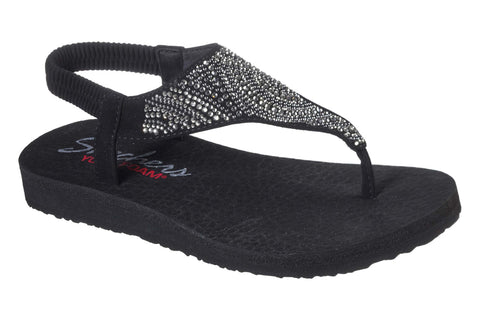 Skechers Meditation New Moon Slip On Sandal Black