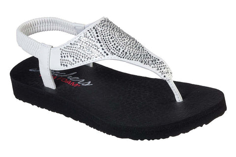 Skechers Meditation New Moon Slip On Sandal White