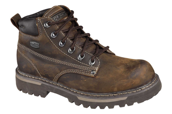 Skechers SK4479 Mens Cool Cat - Bully 2 Lace Up Casual Boot Brown CDB