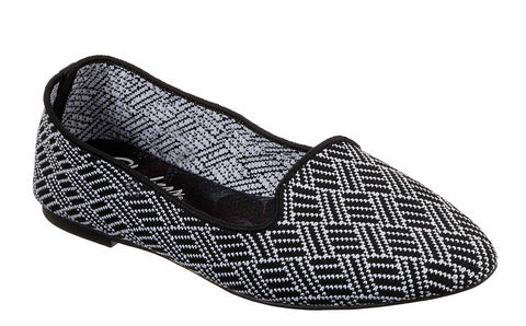 Skechers Cleo Huntington Slip on Shoe Black/White