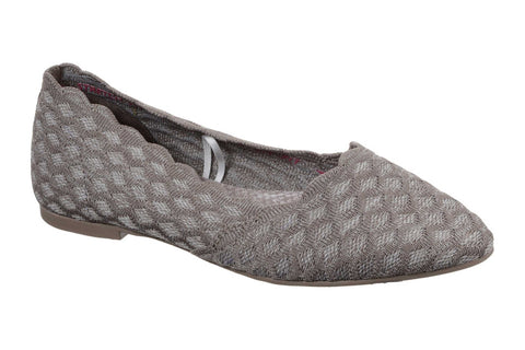 Skechers Cleo Honeycomb Slip On Canvas Dark Taupe