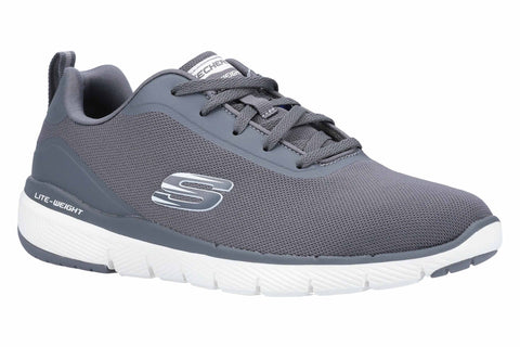 Skechers Flex Advantage 3.0 Landess Mens Sports Trainer Charcoal