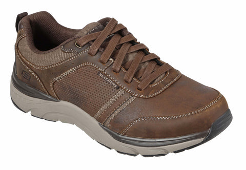 SKECHERS 66293 Sentinal Lunder Leather Trainers