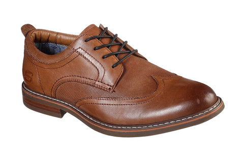 Skechers Bregman Modeso Lace Up Cognac