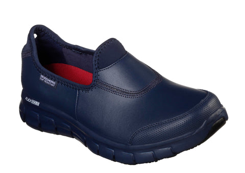 Skechers 76536EC Work Relaxed Fit Sure Track Womens Slip On Work Shoe