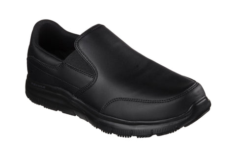 Skechers SK77071 Work Relaxed Fit Flex Advantage SR Bronwoord Mens Slip On Shoe Black BBK