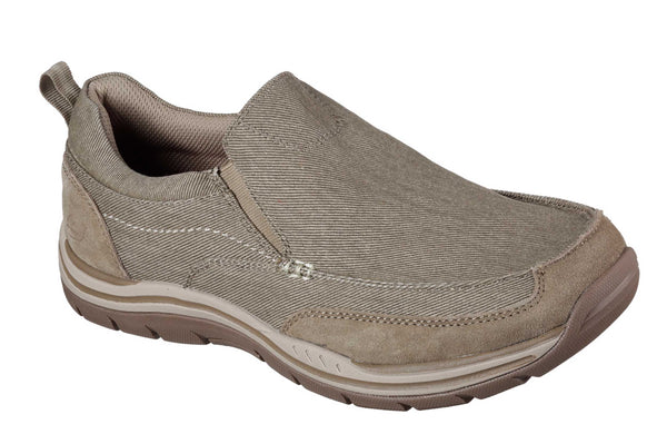 Skechers SK64928 Relaxed Fit Expected Tomen Mens Slip On Shoe Khaki KHK