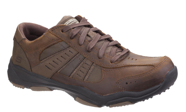 Skechers SK64833 Relaxed Fit: Larson Nerick Mens Lace Up Shoe Brn CDB