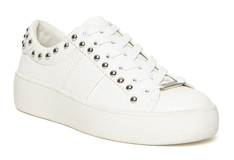 Steve Madden Belle Womens Stud Detail Lace Up Sneaker