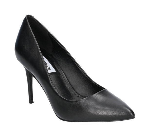 Steve Madden Lillie Womens Leather Stiletto Heeled Court