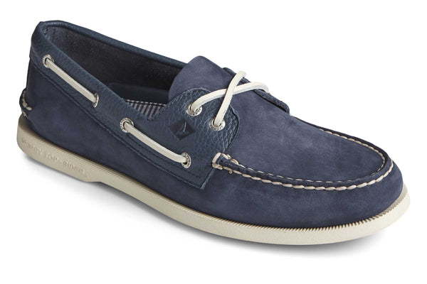 Sperry A/O 2-Eye Tumbled/Nubuck Lace Shoes Navy