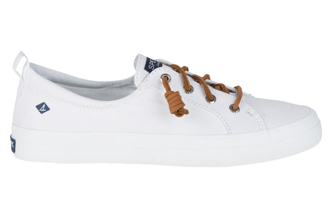 Sperry Crest Vibe Canvas Lace Shoes White