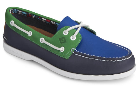Sperry Authentic Original PLUSHWAVE Boat Shoe Navy Multi