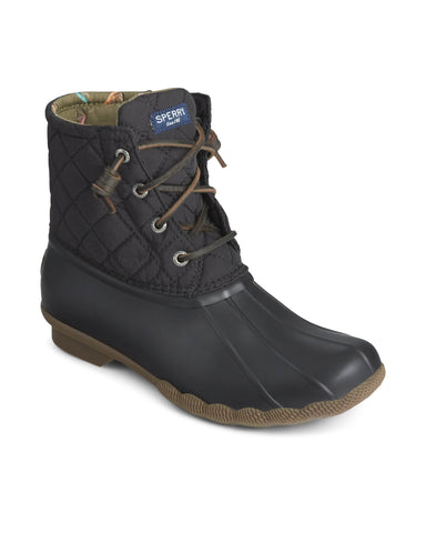Sperry Saltwater Quilted Duck Weather Boot Black