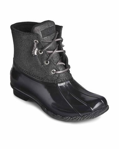 Sperry Saltwater Sparkle Duck Weather Boot Black/Silver