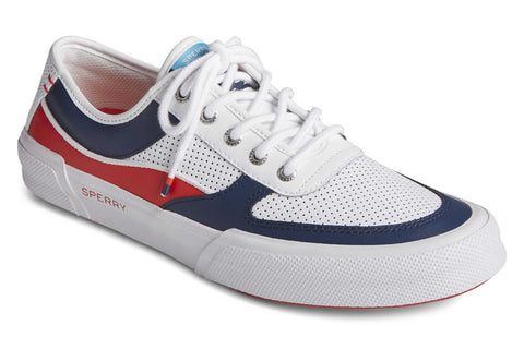 Sperry Soletide Mens Lace Shoes Navy/Red