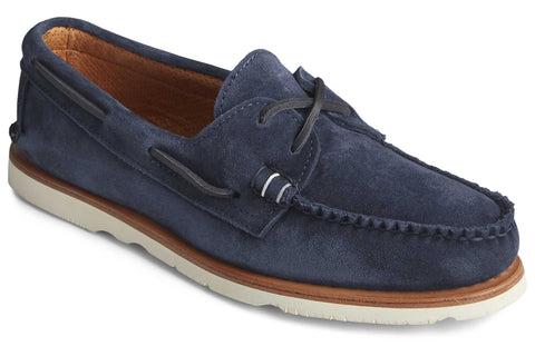 Sperry Authentic Original Sunspel Boat Shoe Navy Suede
