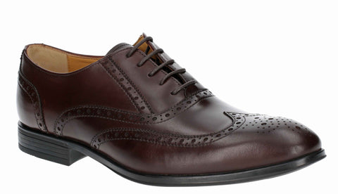 Steptronic Finchley Mens Wide Fit Brogue Detail Lace Up Formal Shoe