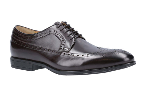 Steptronic Francis Mens Brogue Detail Wide Fit Derby Style Lace Up Shoe