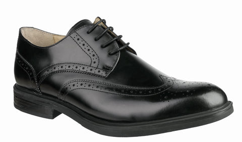 Steptronic Granada Mens Brogue Detail Lace Up Formal Shoe Black