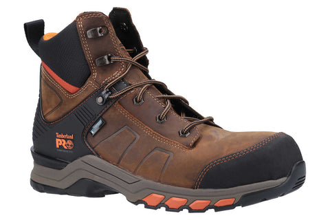 Timberland Pro Hypercharge Composite Safety Toe Work Boot Brown/Orange