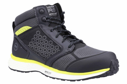 Timberland Pro Reaxion Mid Composite Safety Boot Black/Yellow