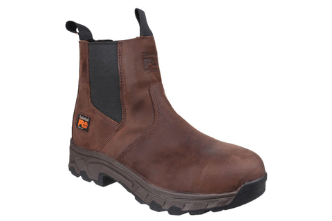 Timberland Pro Workstead Water Resistant Pull on Dealer Safety Boot Brown