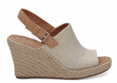Toms Natural Oxford Womens Monica Wedges Natural