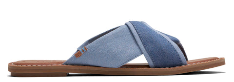 Toms Shimmer Canvas Viviana Womens Sandals Navy