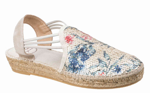 Toni Pons Noa Womens Sequin Detail Slip On Slingback Espadrille Sandal Multi Seq