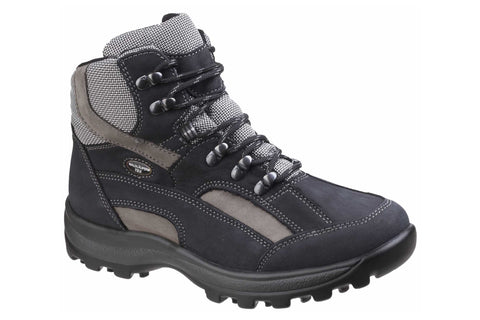 Waldlaufer Holly 471900 Womens Waterproof Wide Fit Laced Walking Boot Dk blue/grey 911307