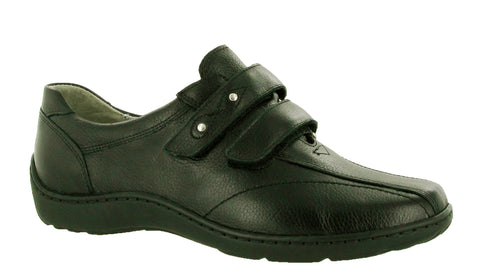 Waldlaufer Henni 496301 172 001 Womens Wide Fit Touch Fastening Shoe Black 172001