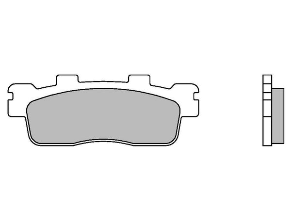 Brake Pads Brembo 07085XS Scooter Sintered, Rear Kymco Downtown 125/200/300 (1 couple for 1 disc)