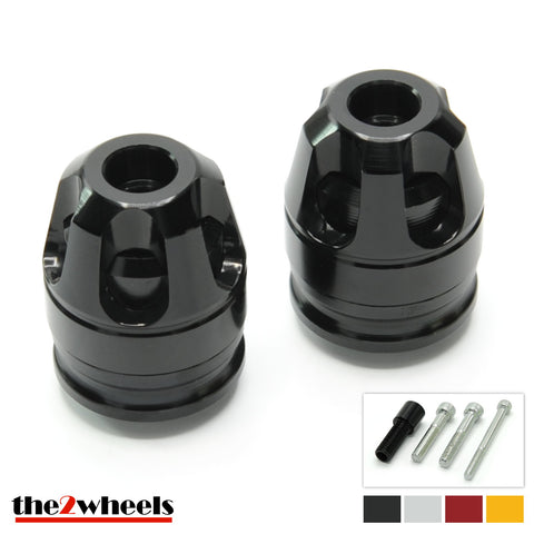 2color 'Revolver 3D' Bar Ends, with adapters for BMW C650 GT, C600 Sport
