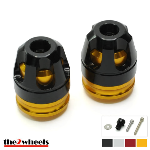 2color 'Revolver 3D' Bar Ends, with adapters for BMW F800R 2009-2014