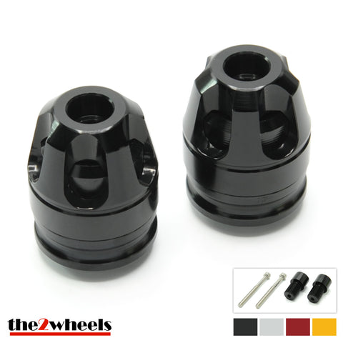 2color 'Revolver 3D' Bar Ends, with adapters for Yamaha MT10, MT09, MT07, XSR900, XSR700, FZ1, FZ6, XJR1300, T-Max