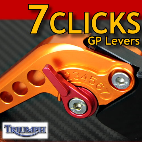 7 CLICK GP Adjustable Levers Set for Triumph