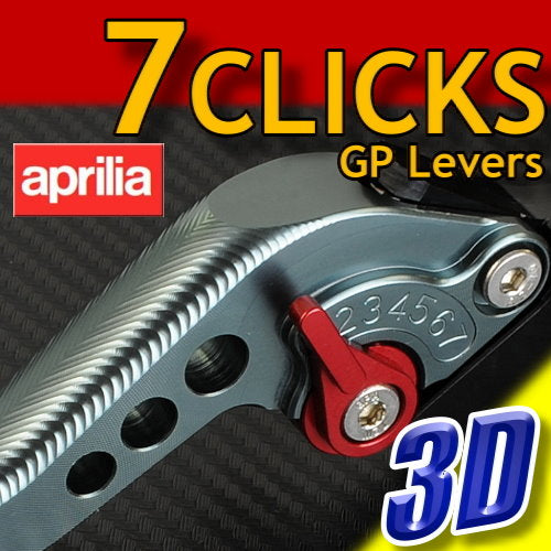 7 CLICK GP 3D Adjustable Levers Set for Aprilia