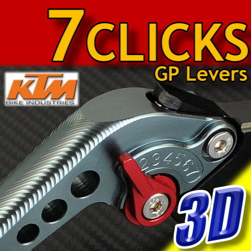 7 CLICK GP 3D Adjustable Levers Set for KTM