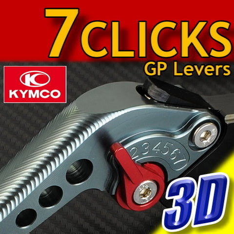 7 CLICK GP 3D Adjustable Levers Set for Kymco