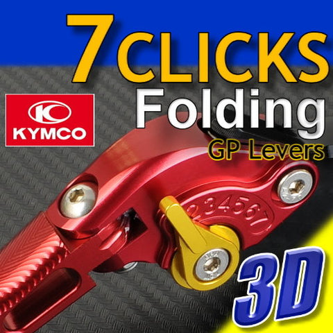 7 CLICK GP Foldable 3D Adjustable Levers Set for Kymco