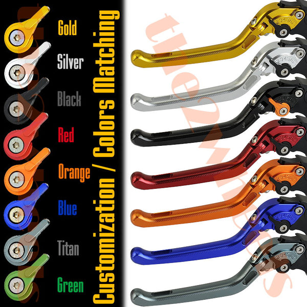 7 CLICK GP Foldable 3D Adjustable Levers Set for Buell
