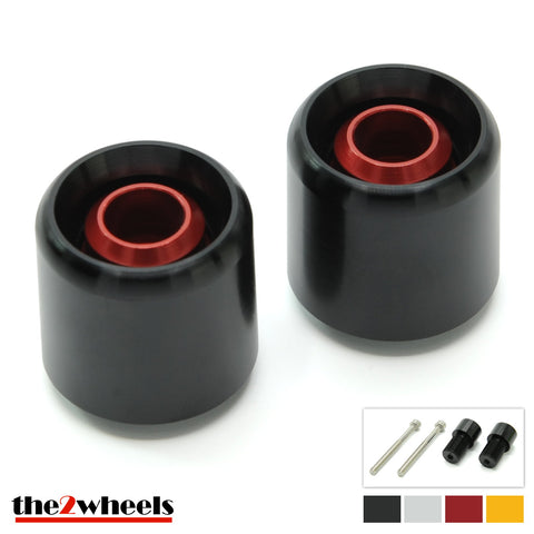 Bar Ends 'Acuda' 2color with adapters for BMW F800R 2009-2014