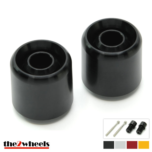 Bar Ends 'Acuda' 2color with adapters for Yamaha YZF R6 '99-'05, R6S, YZF1000R, YZF750R, YZF600R