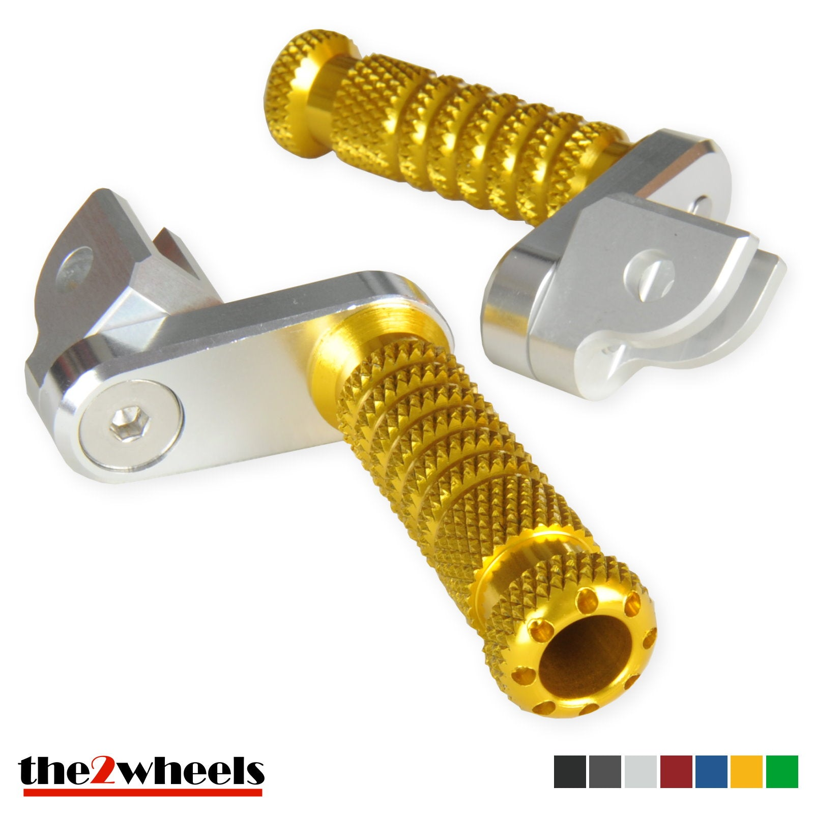 POLE Gold CNC Front Foot Pegs For Yamaha YZF R1 2000-2014