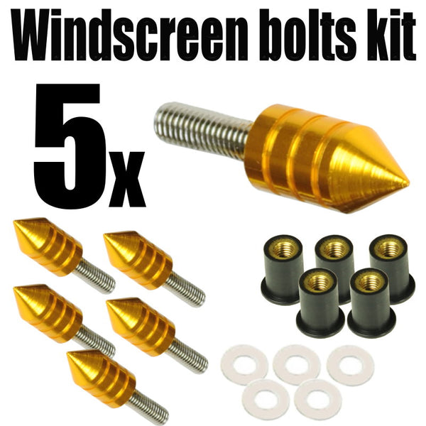 Spike Windscreen Screws Bolts Kit 5 pcs