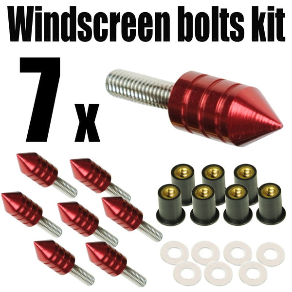 Spike Windscreen Screws Bolts Kit 7 pcs